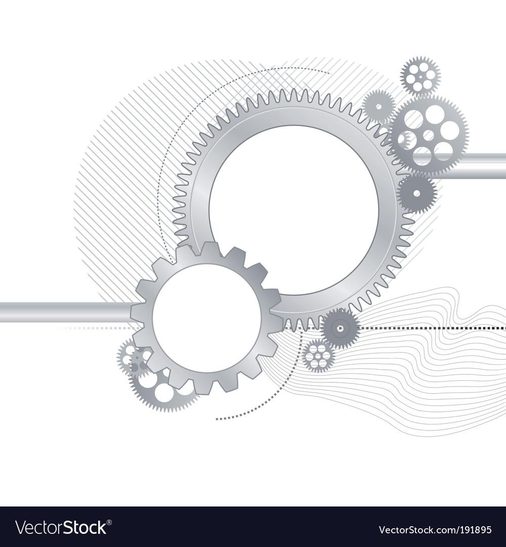 Metallic gears background vector