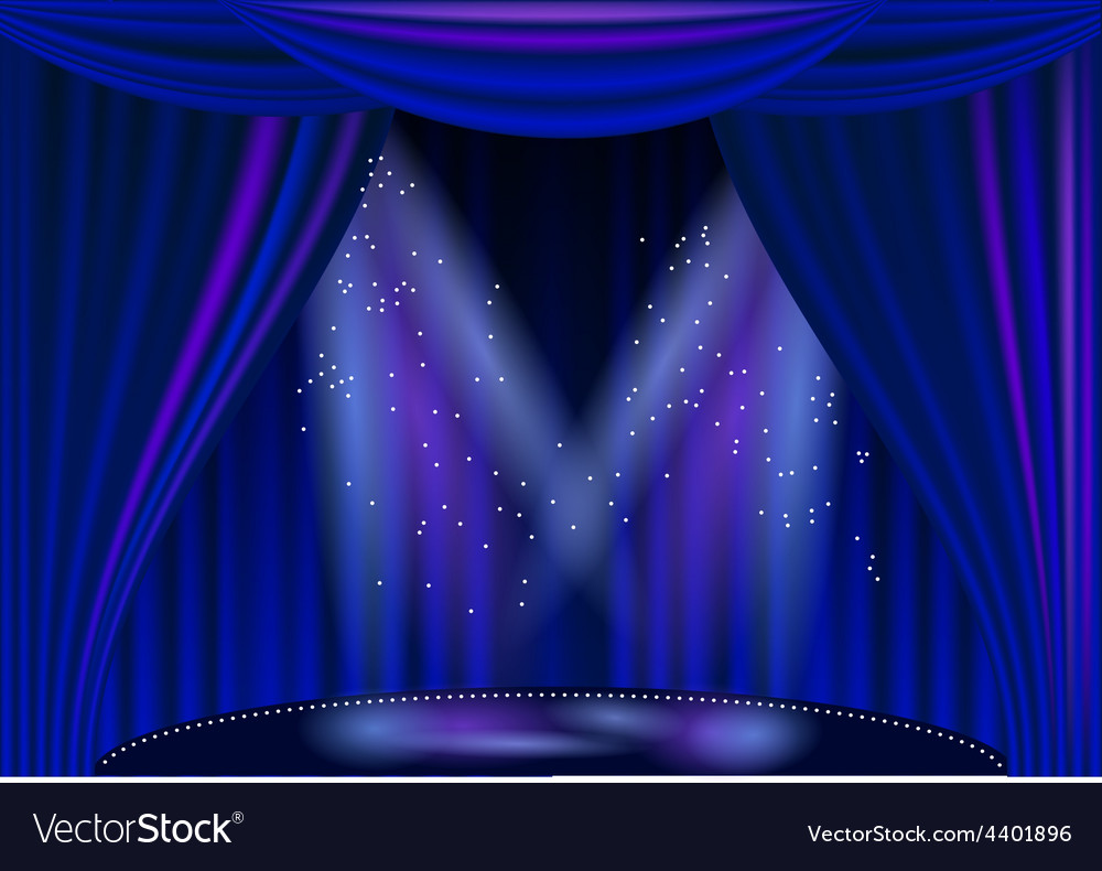 Empty stage theater vector