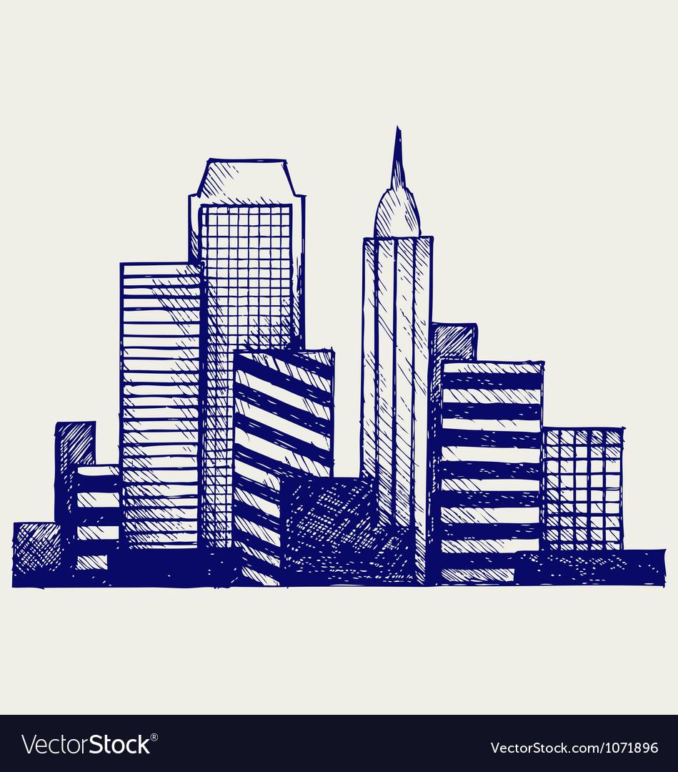 Panoramic city vector