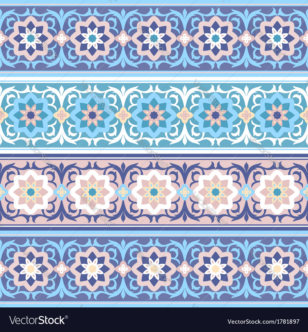 Muslim vintage floral seamless ornament islimi vector