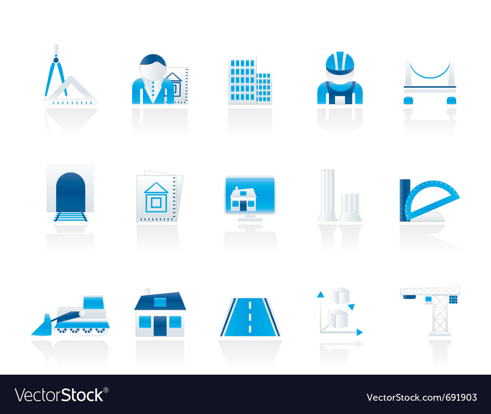 Architecture and construction icons vector