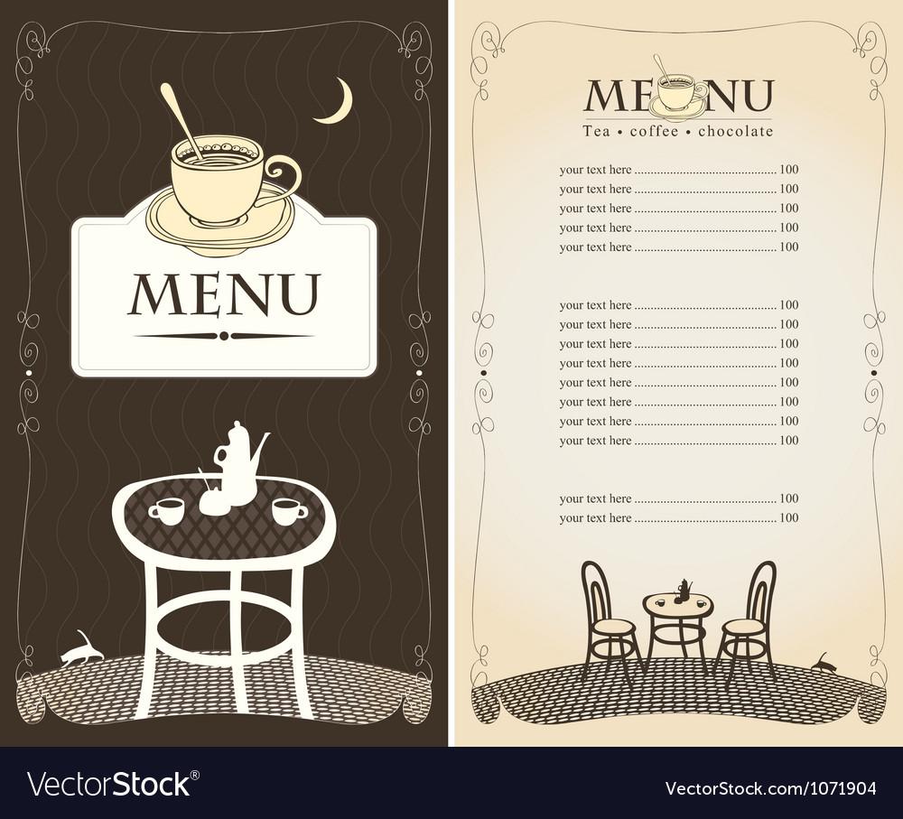 Midnight cafe vector