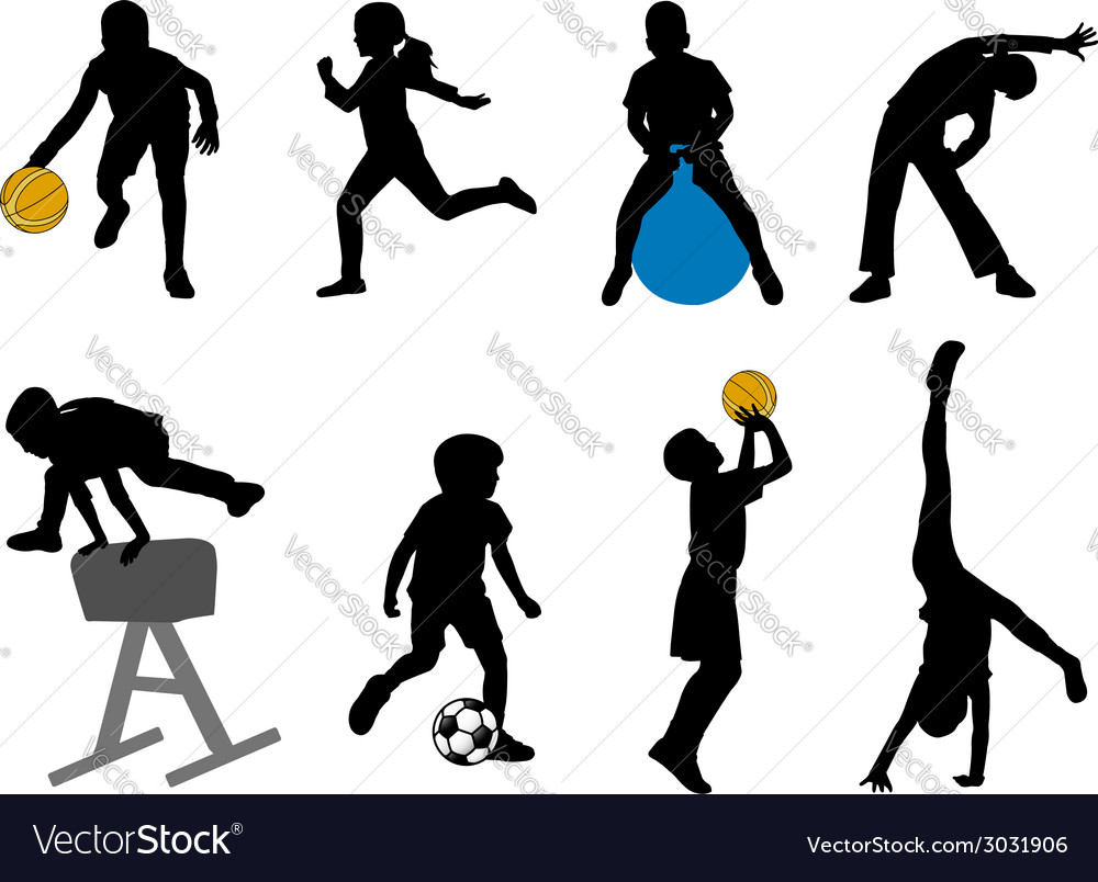 Children sport vector