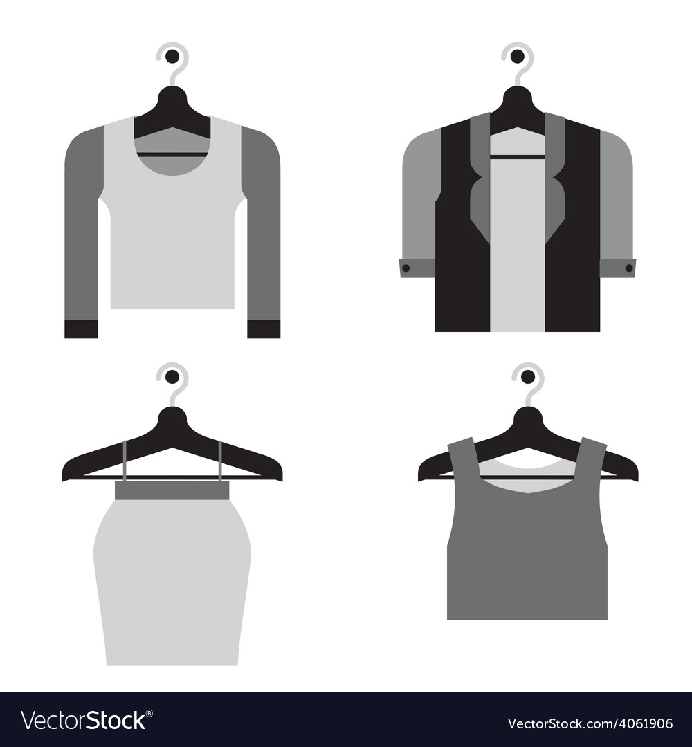 Woman clothes on hanger vector