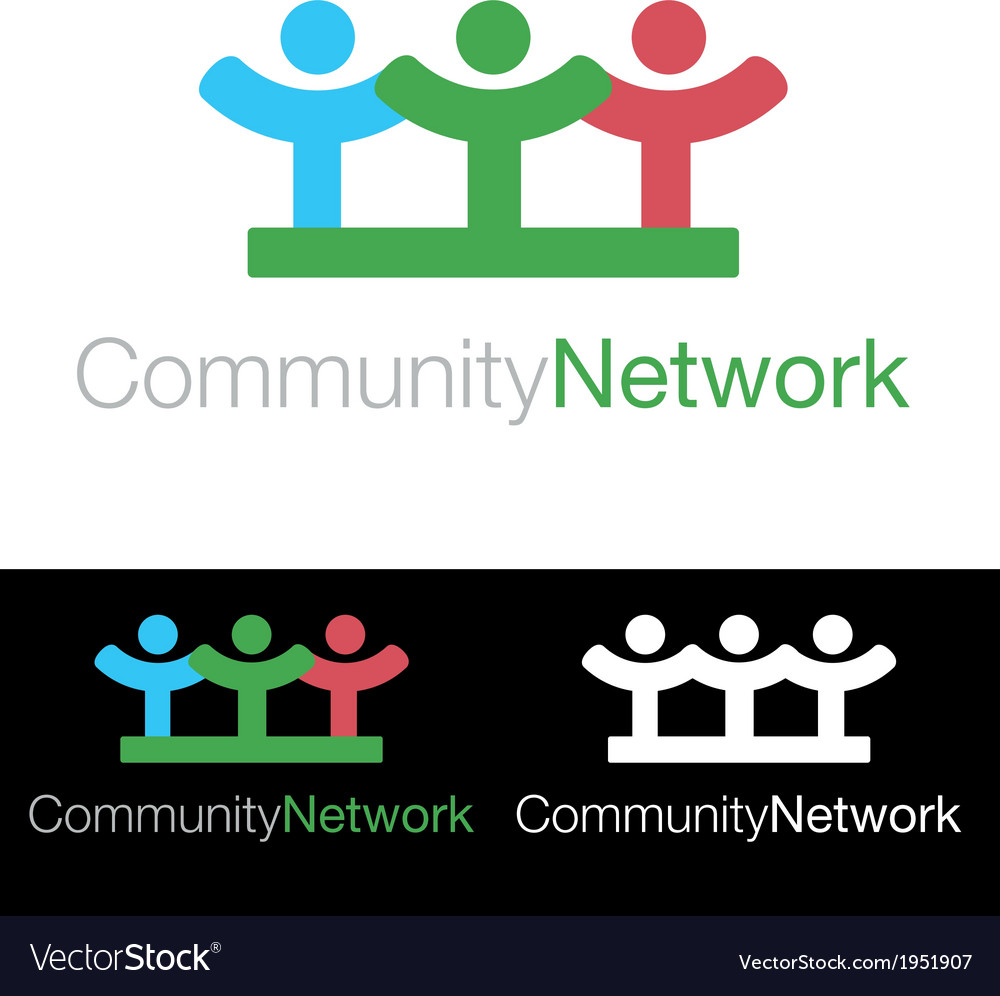 Social community health company icon logo vector