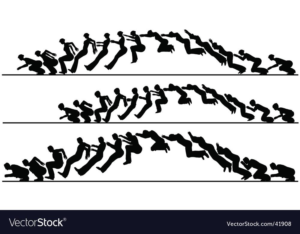 Animated jump vector
