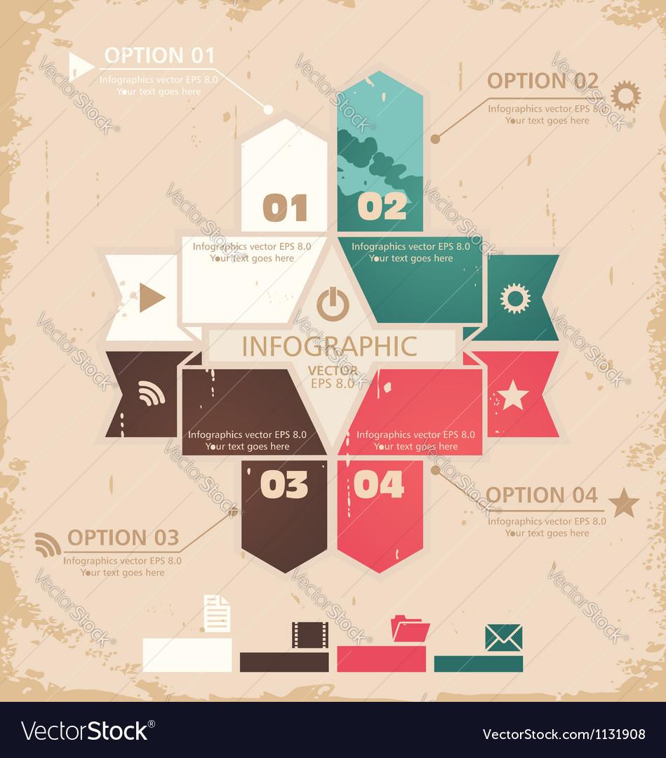 Retro design template vector
