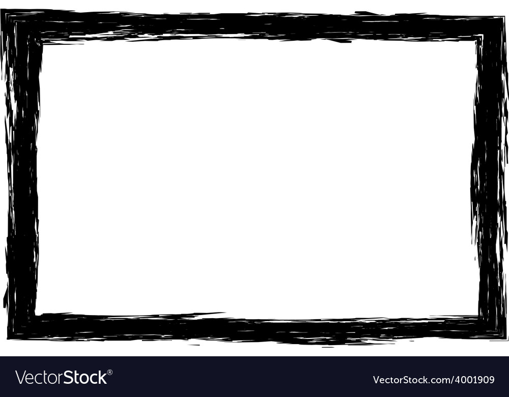 Grunge distressed rough frame or border vector