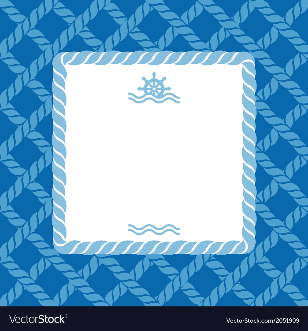 Marine background with rope vector