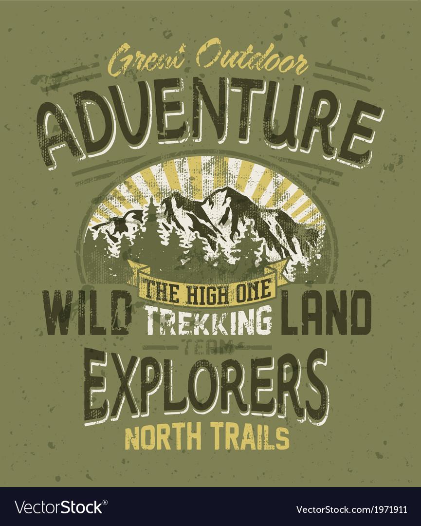 Great outdoor adventure vector