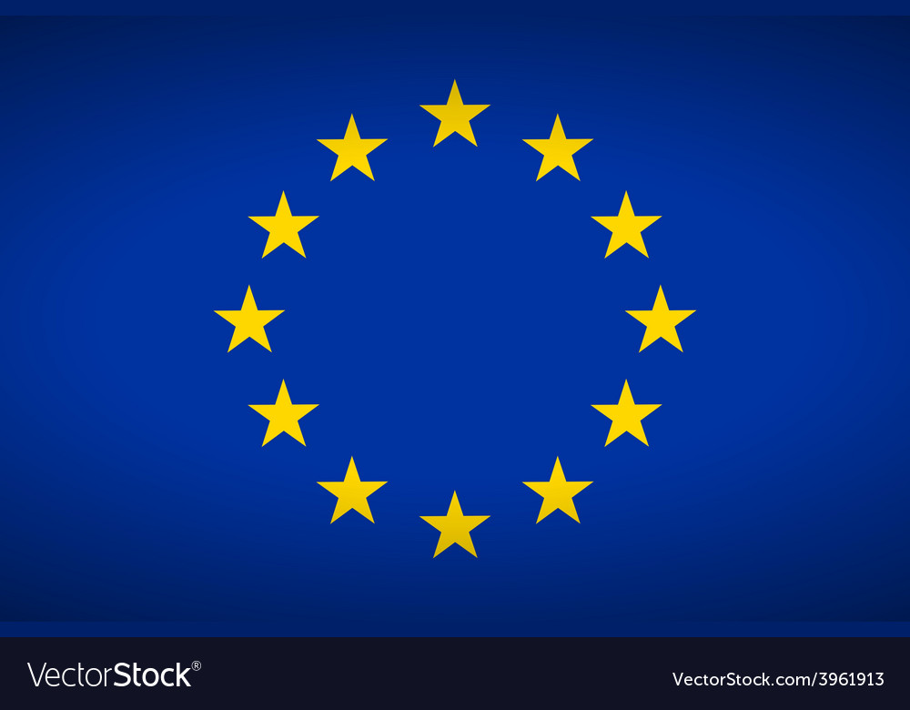 Flag of europe vector
