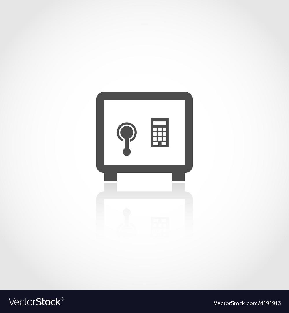 Safe deposit icon vector