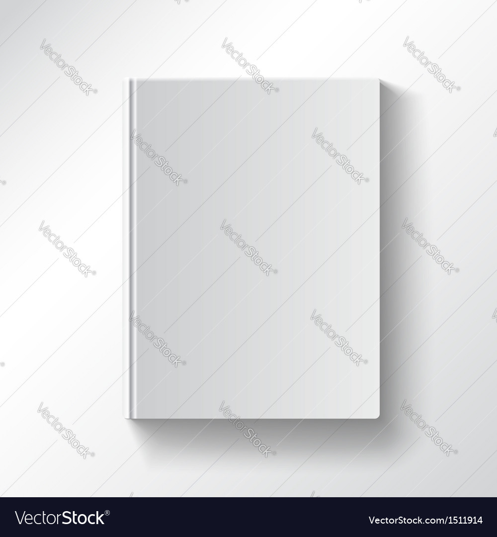 Blank book cover gradient mesh used eps10 isolated vector