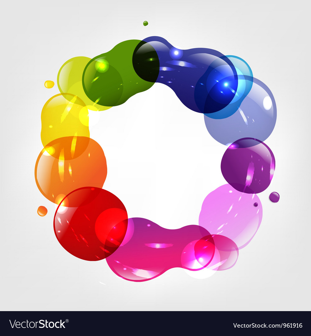 Colorful splotch ring vector