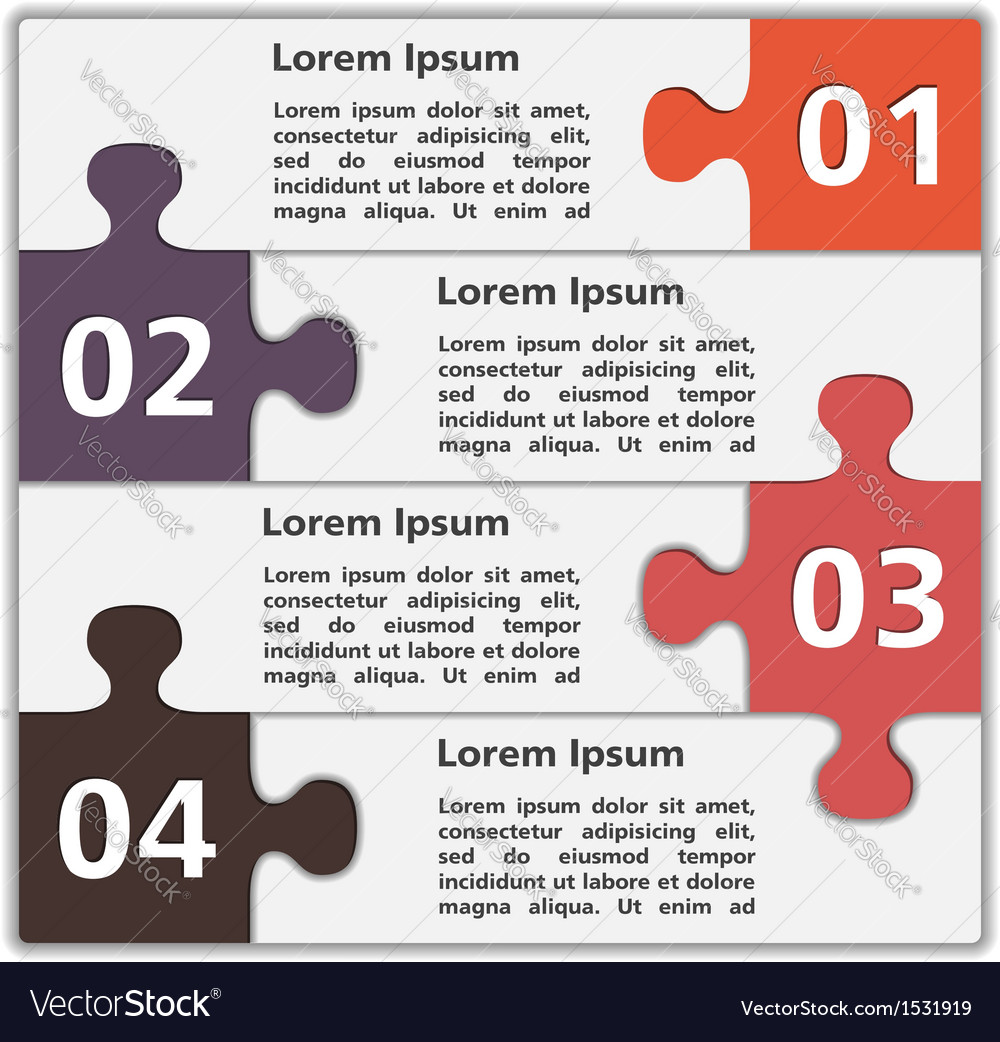 Abstract design template with puzzle pieces vector