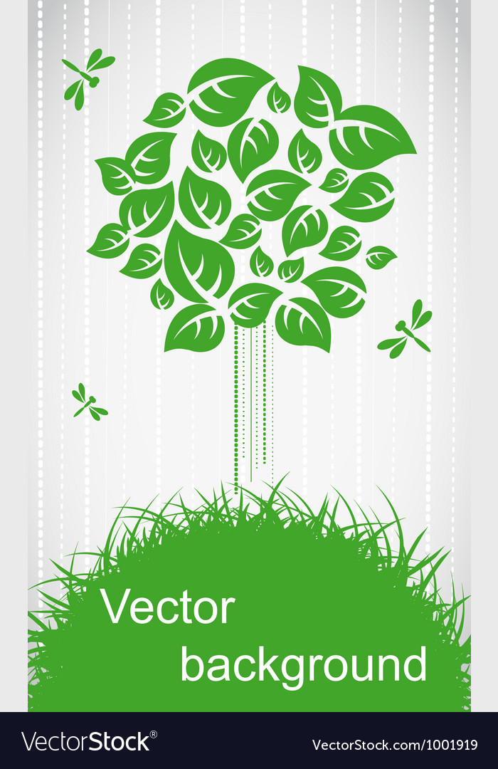 Ecological tree vector
