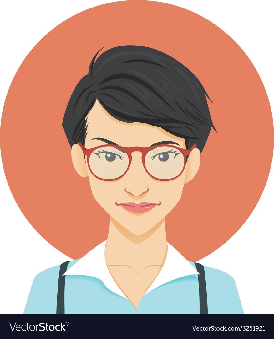 Geeky girl vector