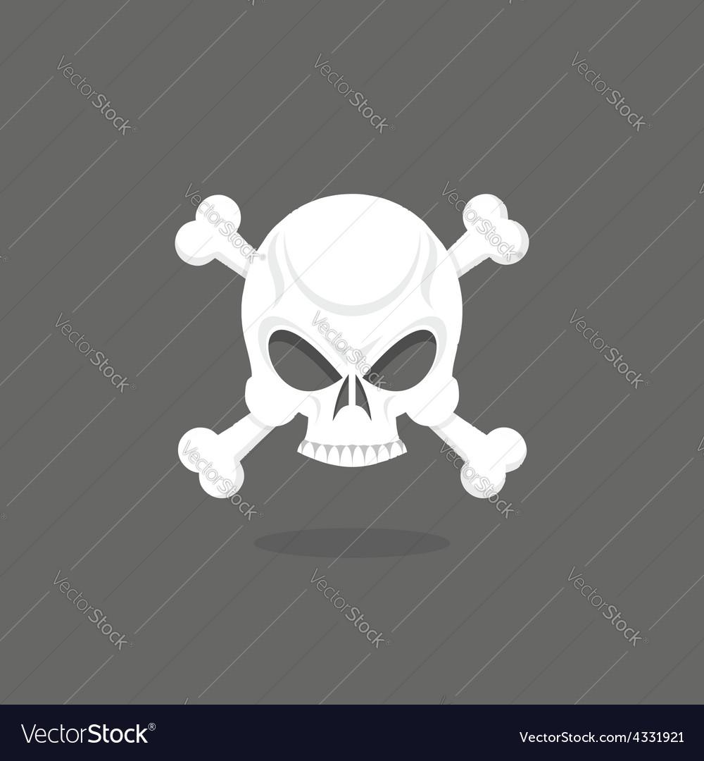 Jolly roger skull and bones pirate flag vector