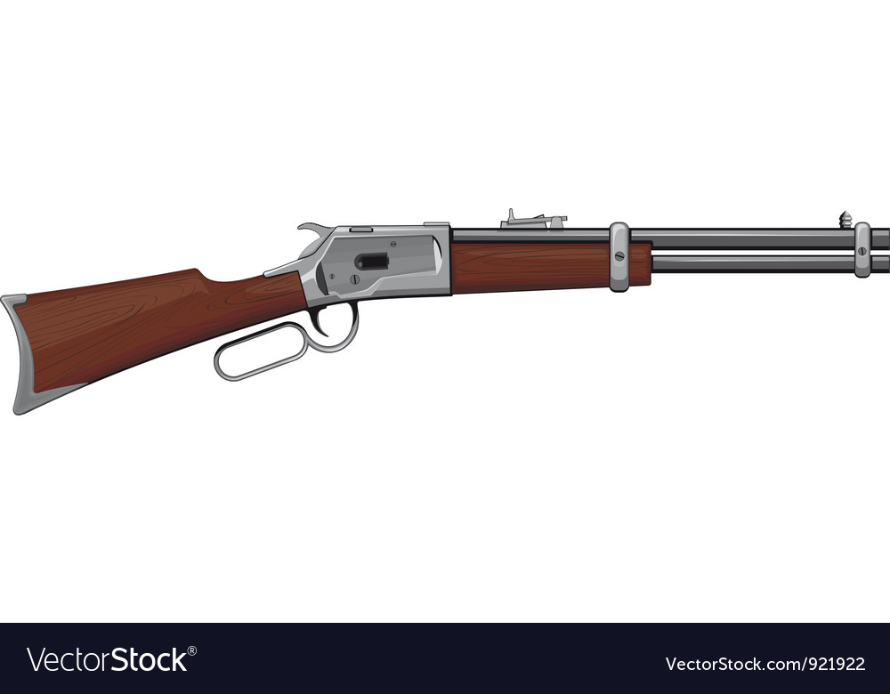Lever rifle vector