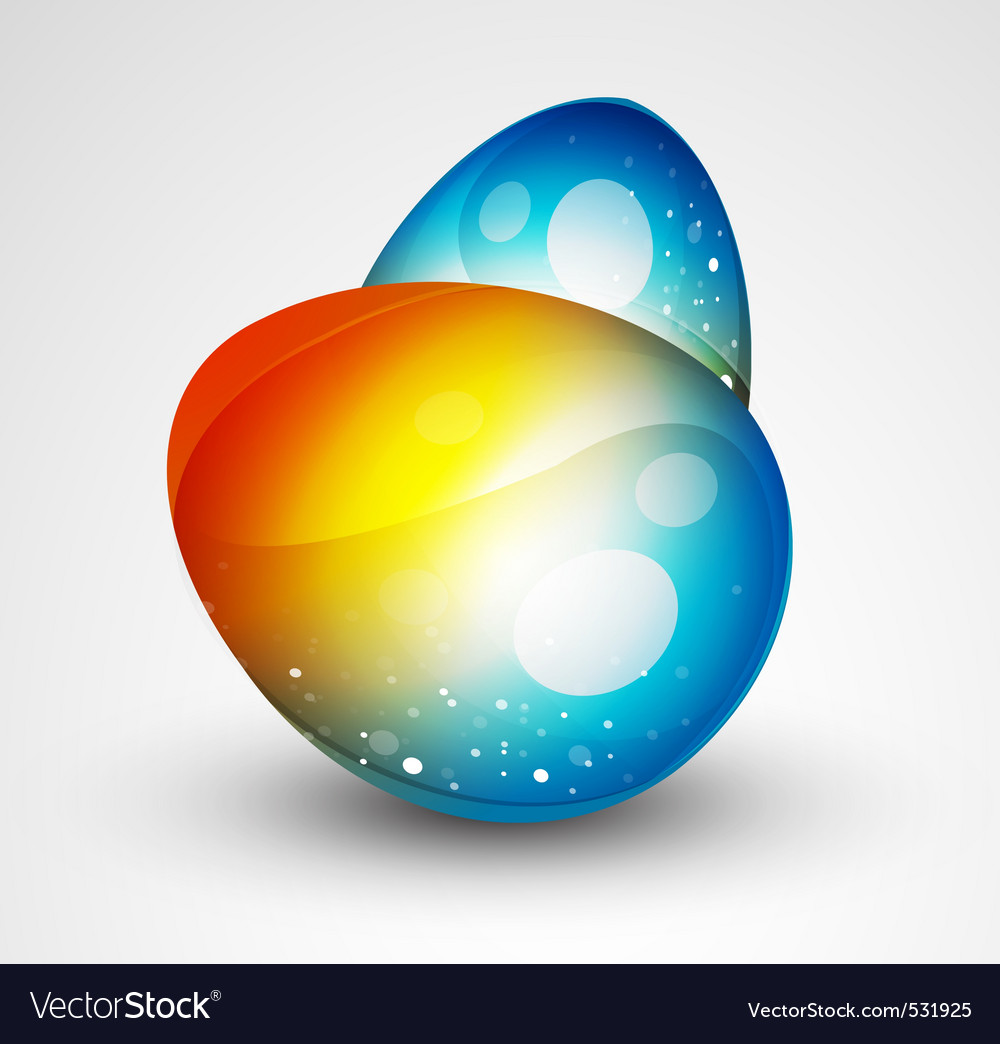Abstract egg vector