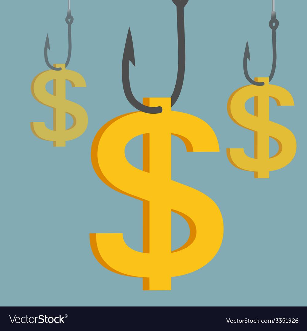Hook money vector
