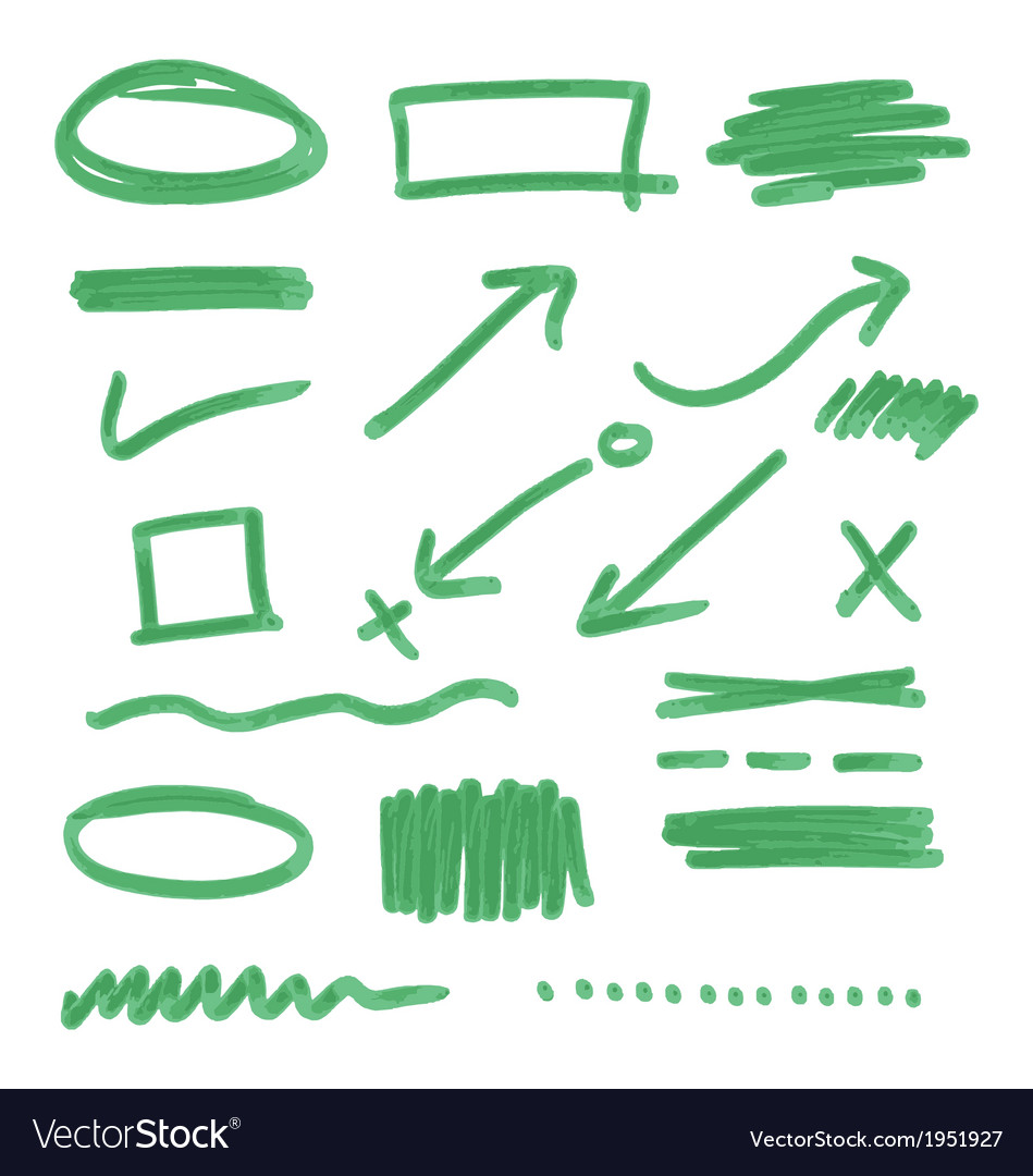 Hand drawn design elements collection vector