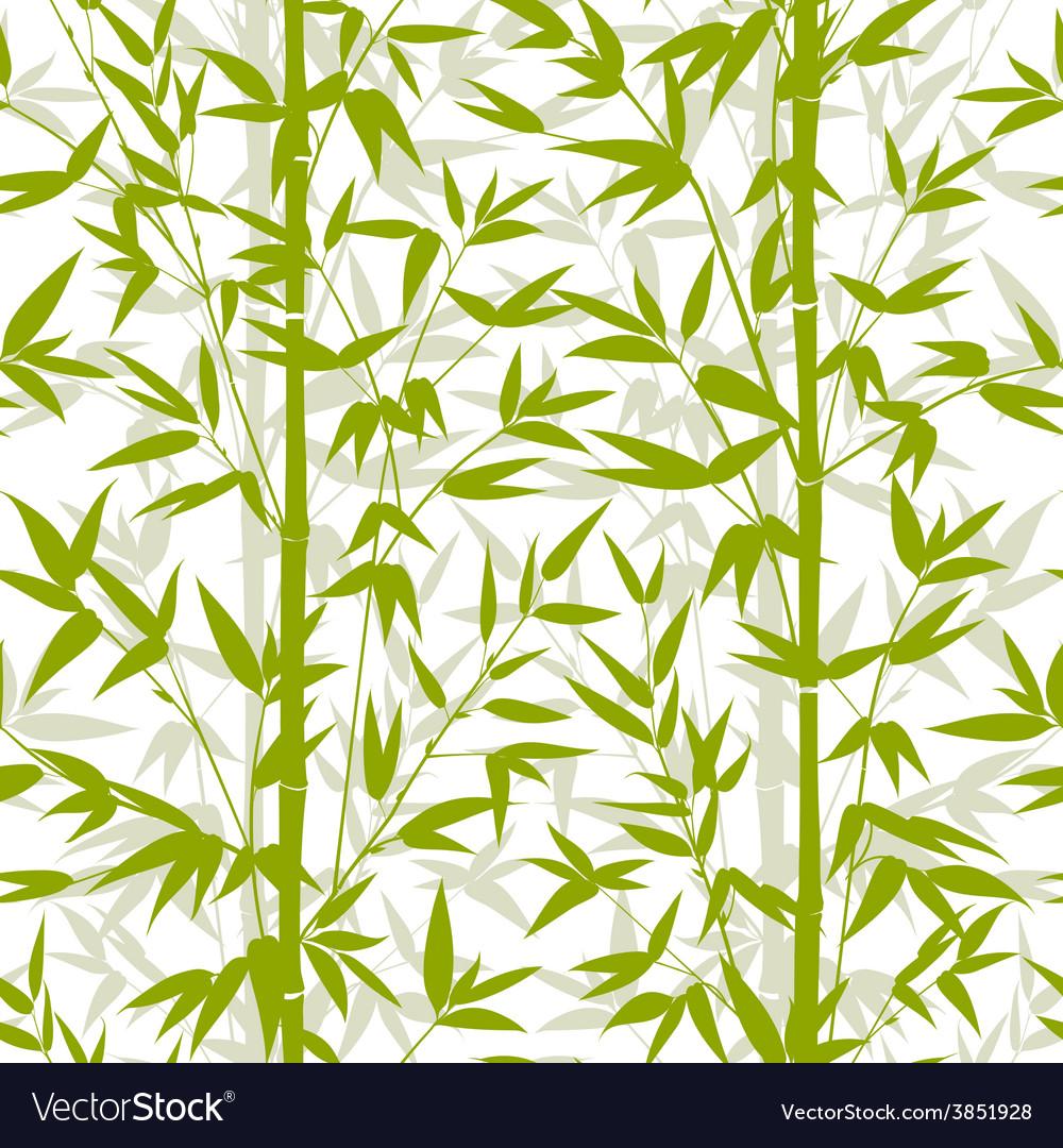 Bamboo seamless pattern vector