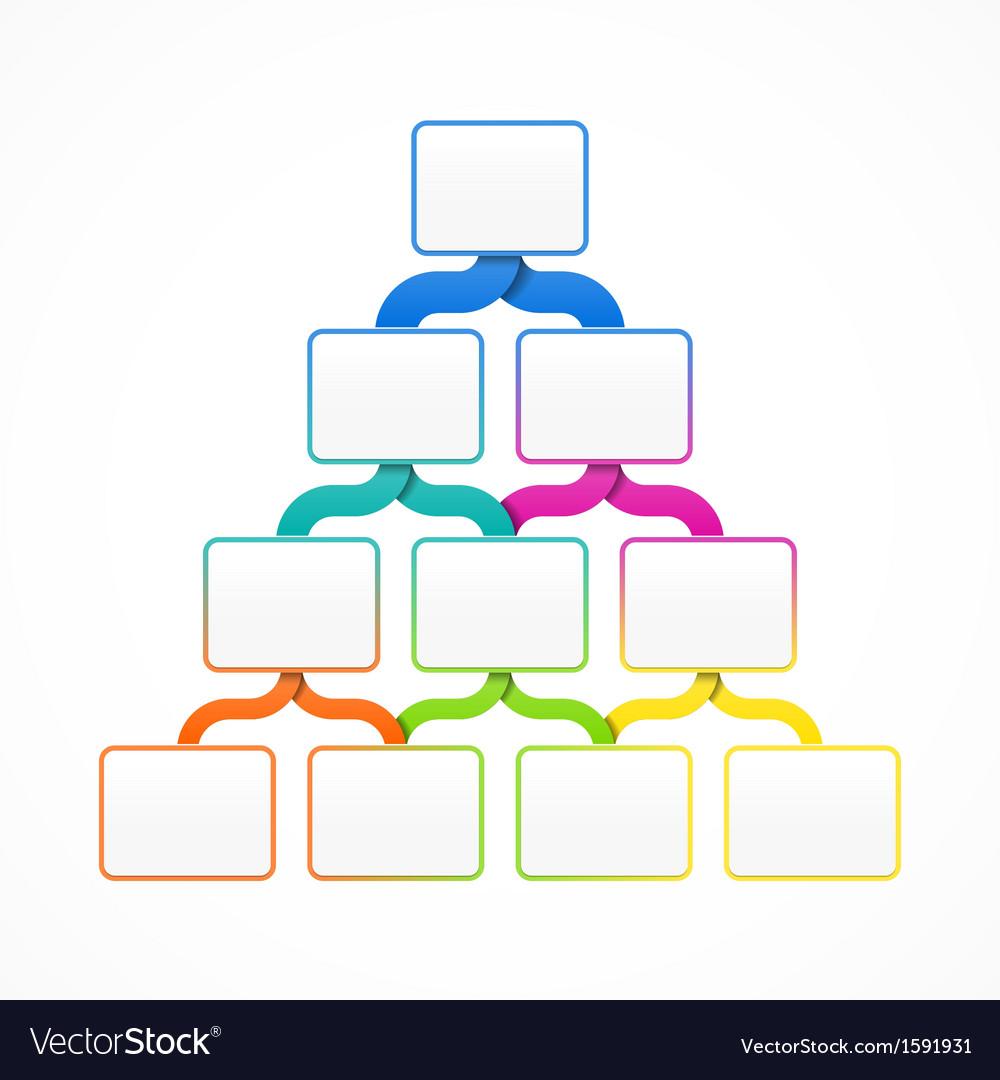 Pyramid hierarchy template vector