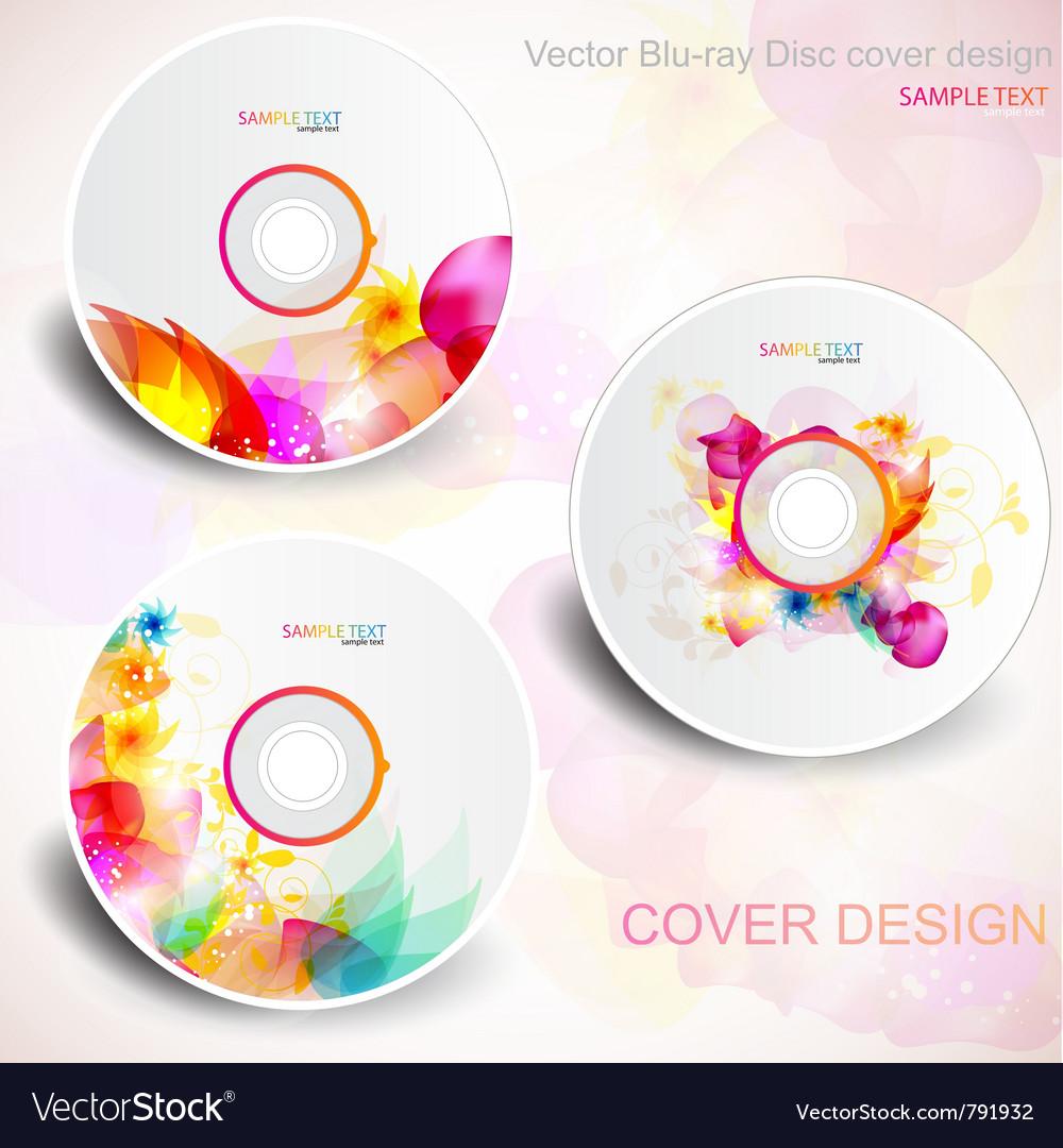 Flora cd design vector