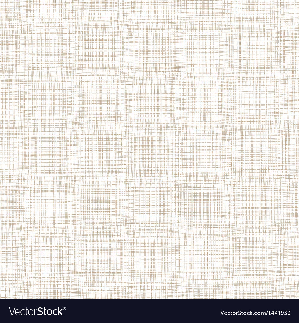 Background with threads white brown linen vector