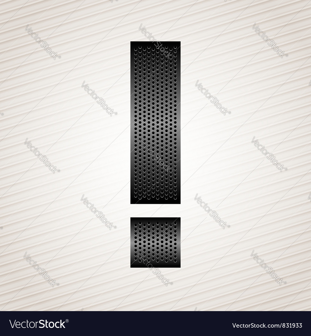 Letter metal ribbon - exclamation mark vector