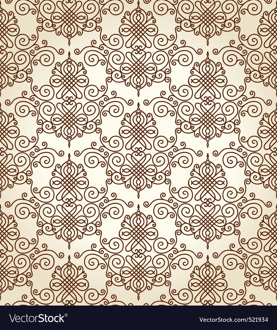 Seamless calligraphic ornament background vector