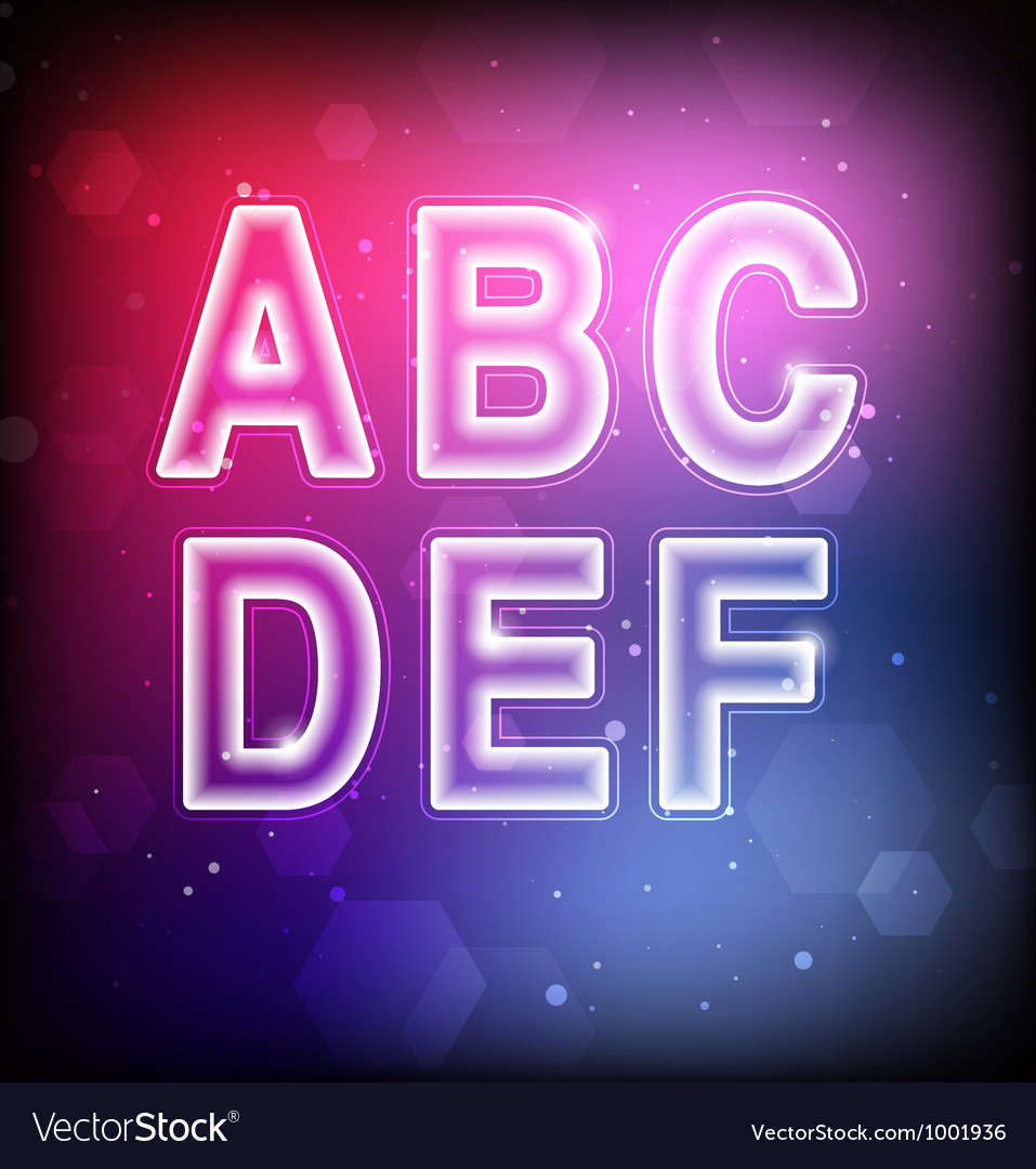 Abstract font a-f vector
