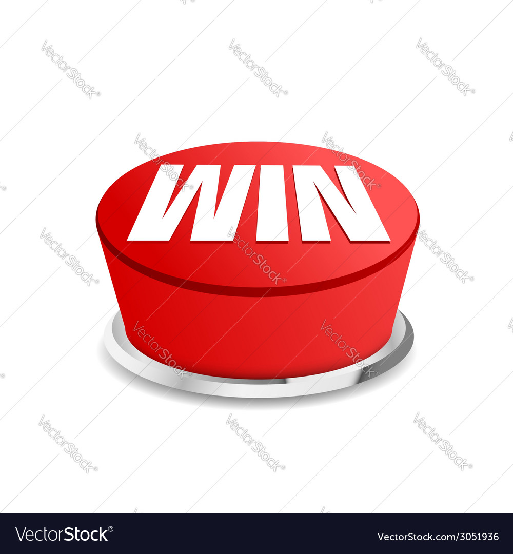 Time to win button sign template vector