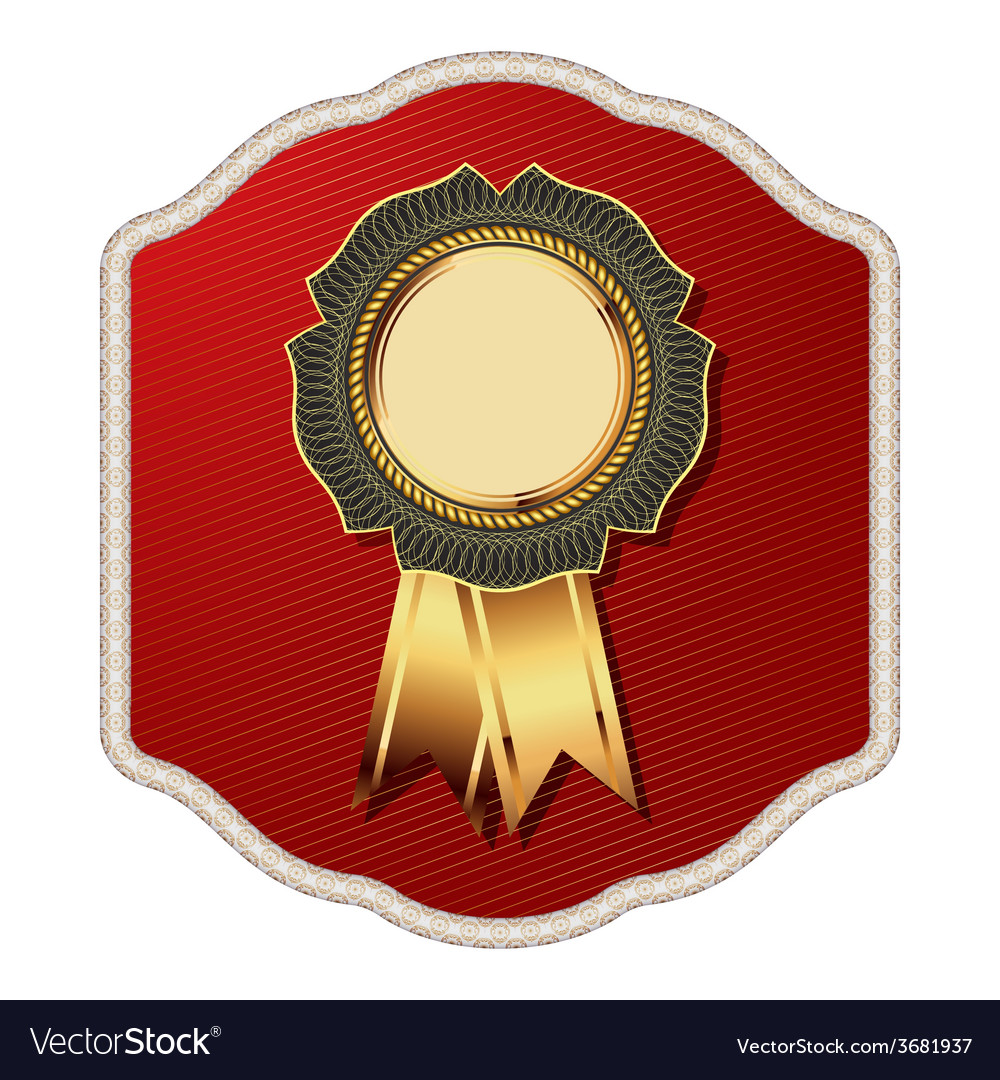 Golden vintage template-emblem and heraldry vector