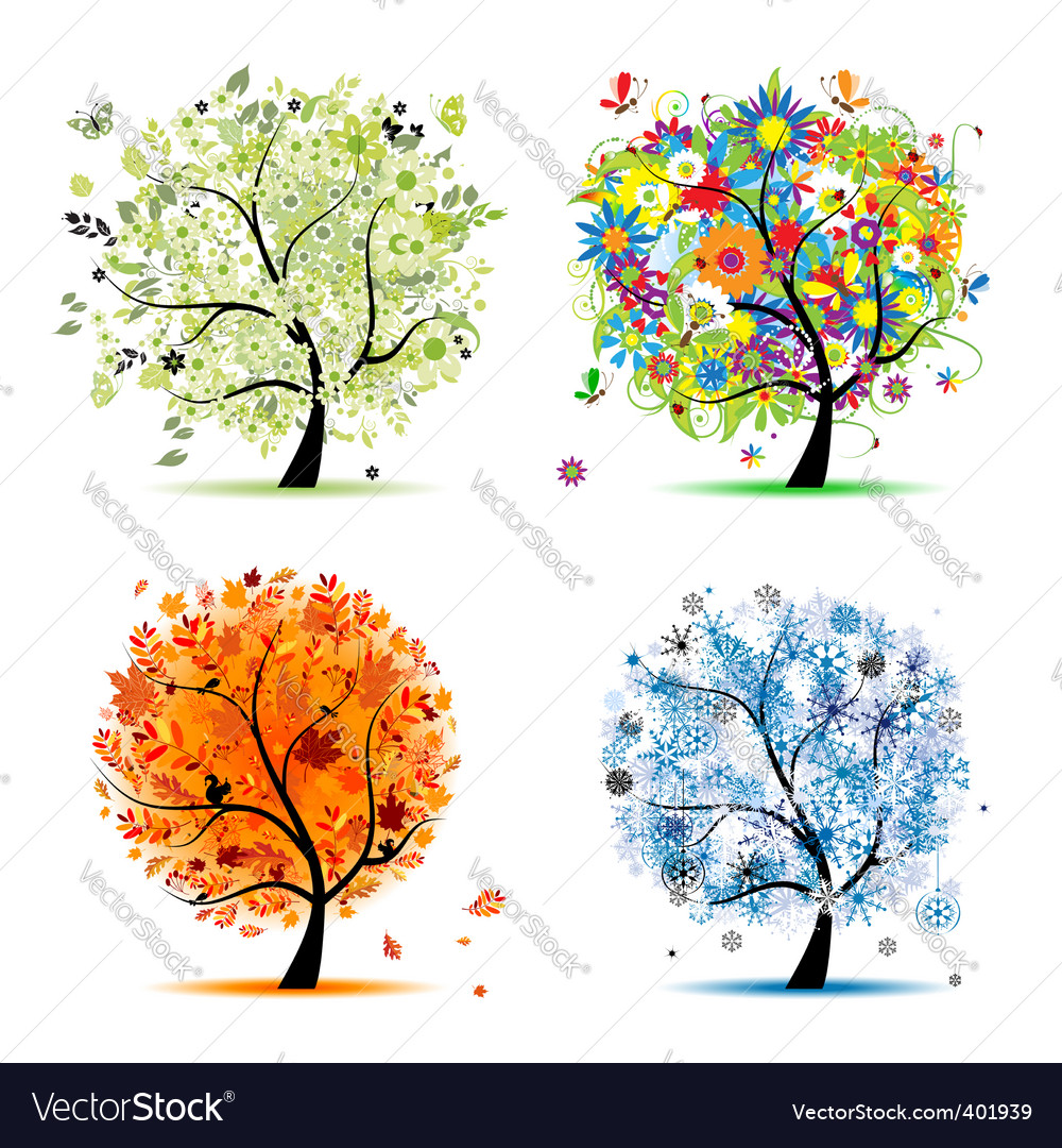 Seasons vector
