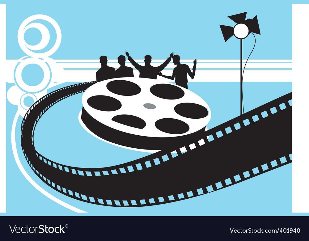 Film reel with light vector