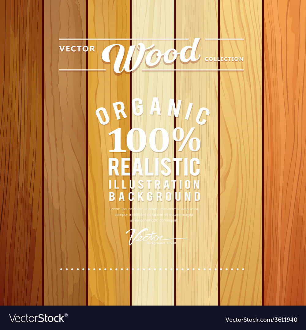 Wood collections realistic texture design vector
