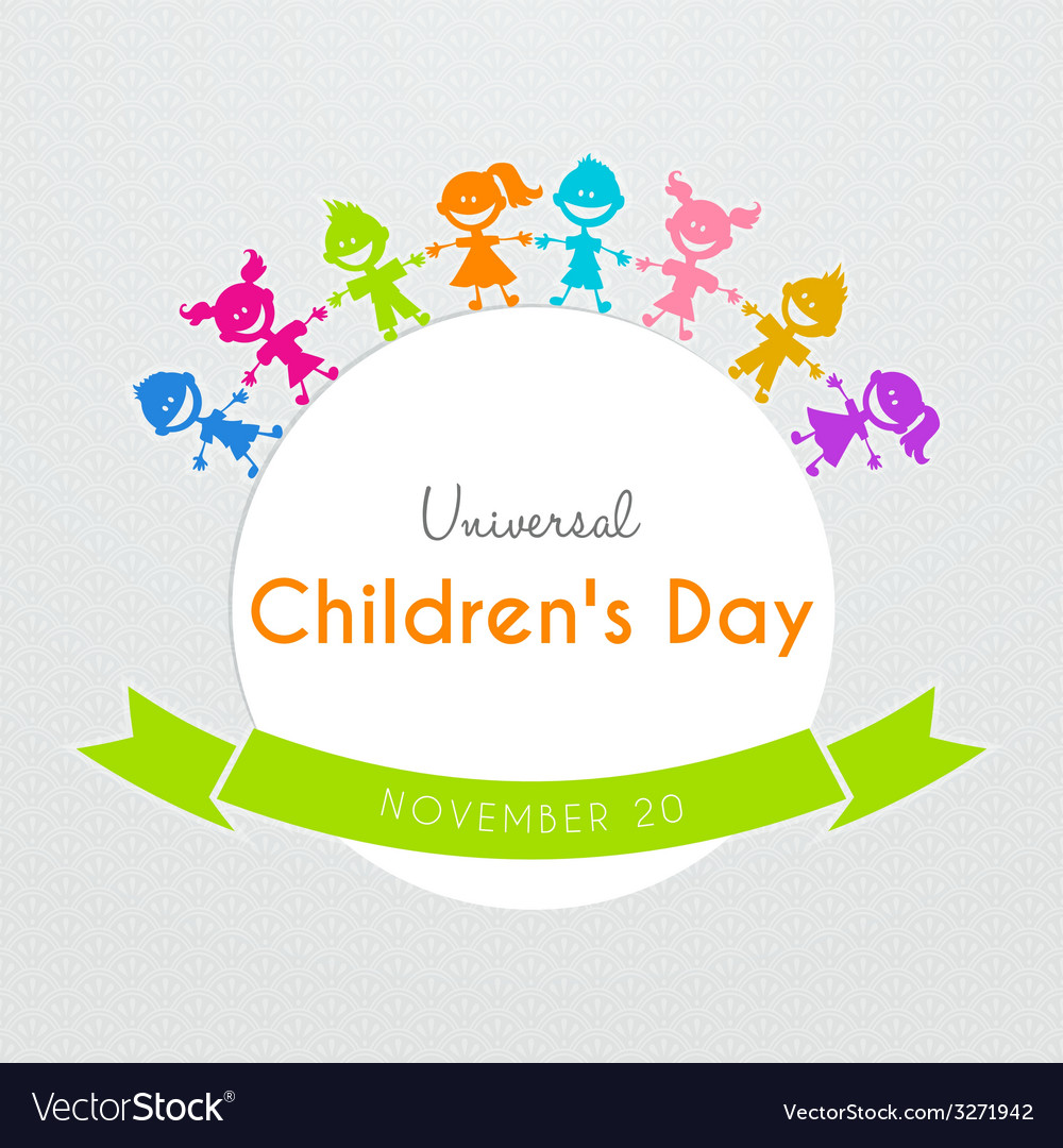 Universal children day poster vector