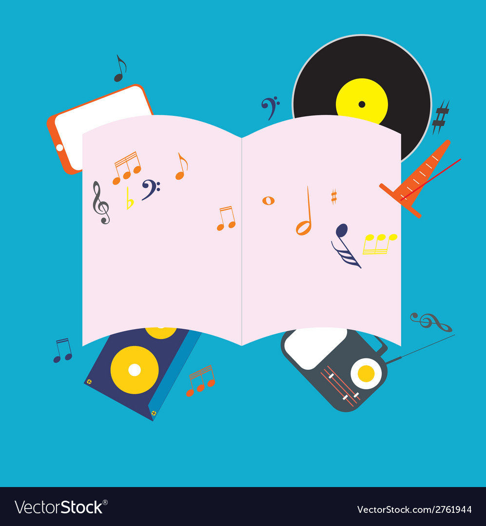 Musical notepad vector