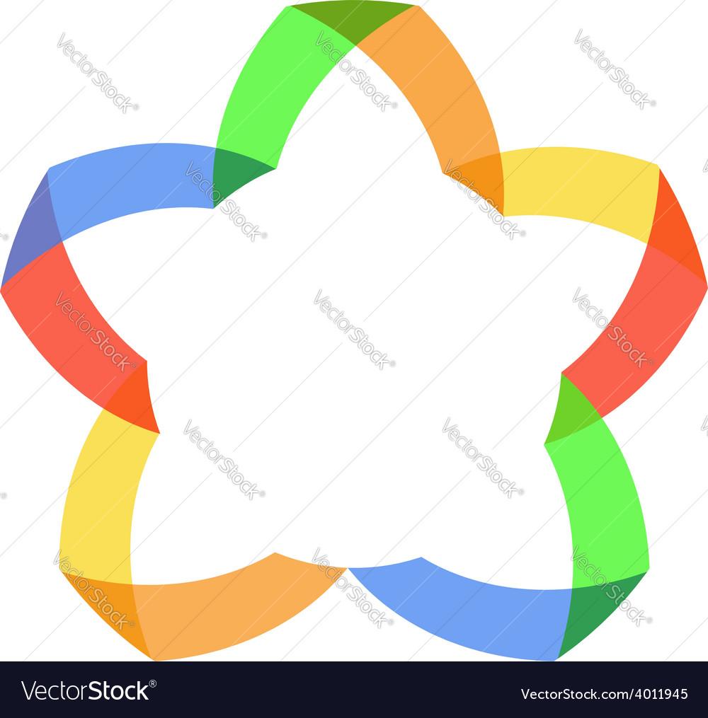 Abstract color logo vector