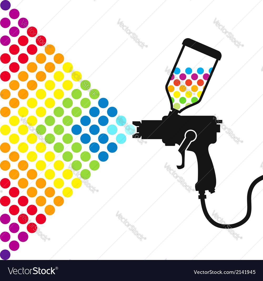 Paint spray gun vector