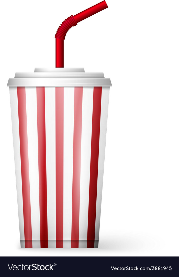 Soda fountain drink isolated on white background vector