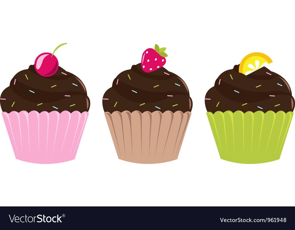 Cupcake labels vector