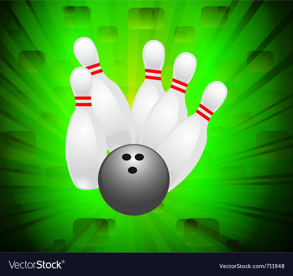 Ten pin bowling vector