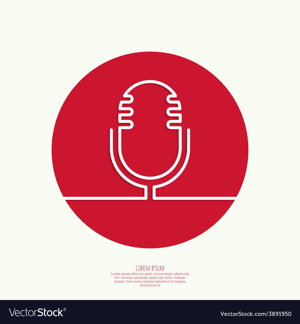 Abstract background with an old microphone vector