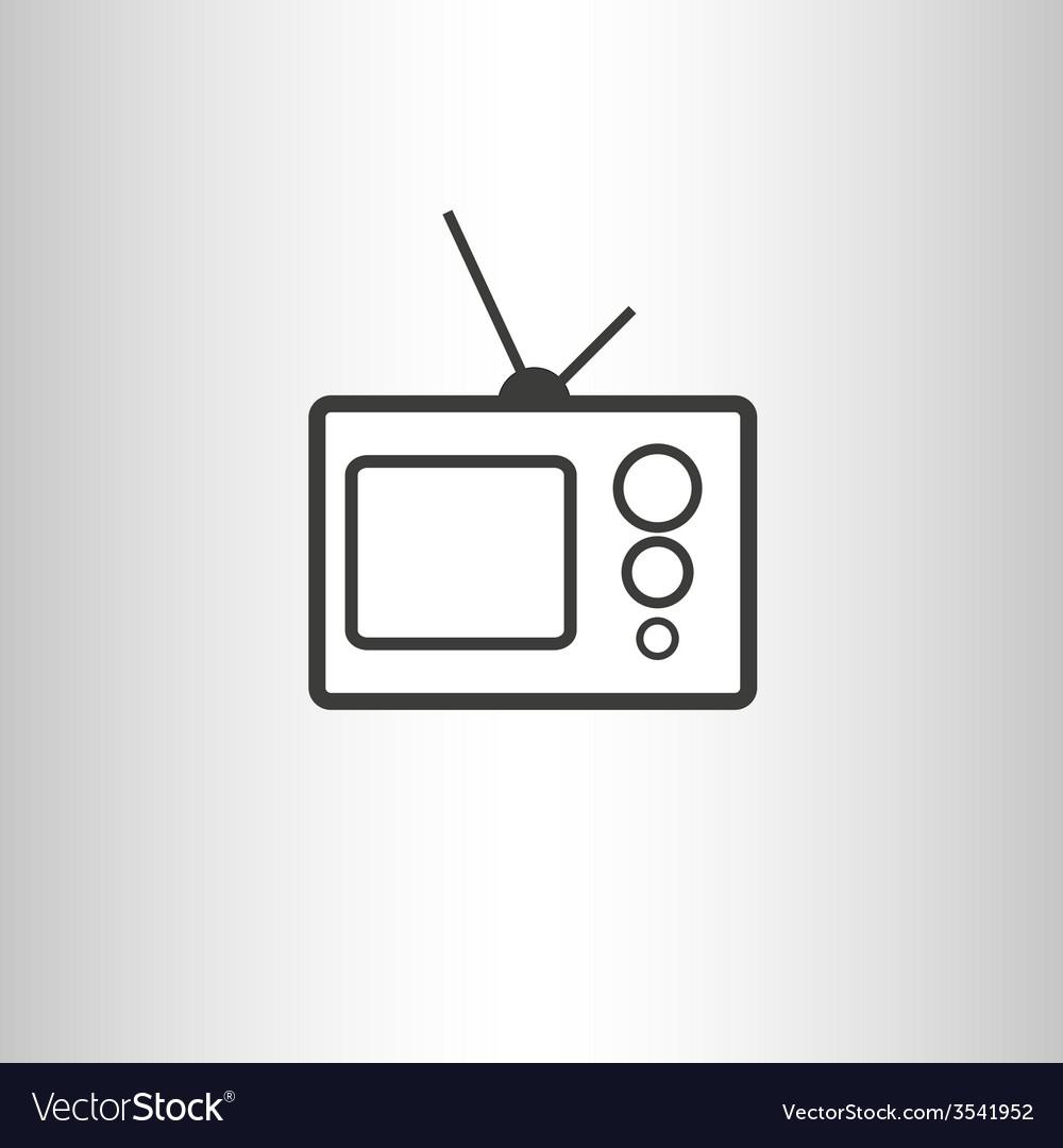 Retro tv set icon vector