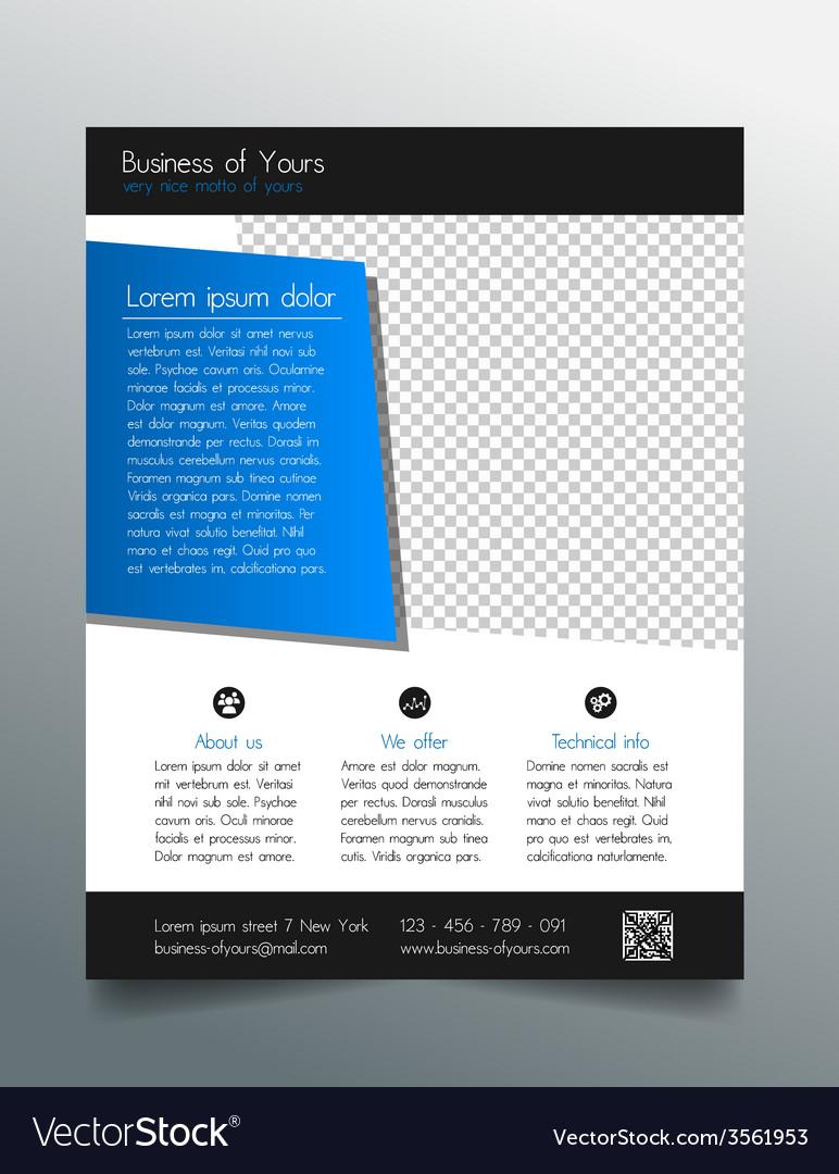 Business flyer template - modern sleek design vector