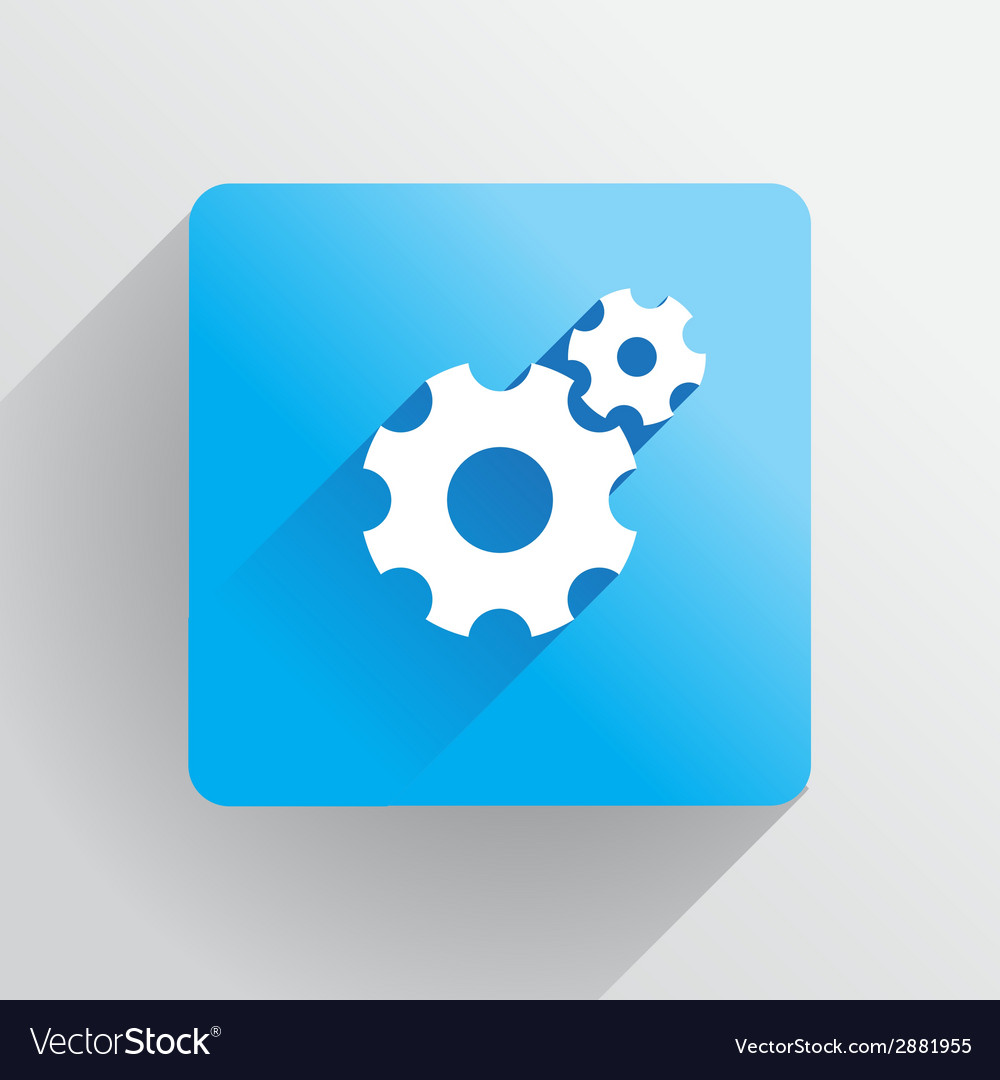 Cogs icon vector