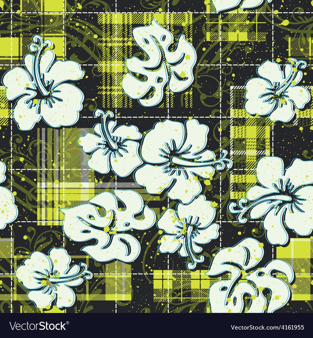 Hibiscus flowers wallpaper vector